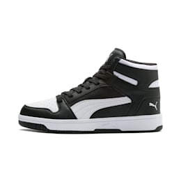 Rebound Lay Up Trainers, Puma Black-Puma White, small