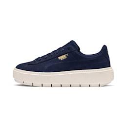 Platform Trace Soft Women's Sneakers, Peacoat-Marshmallow, small-SEA