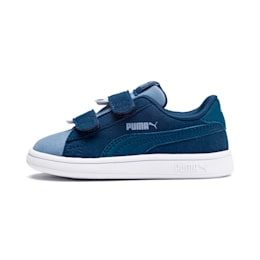PUMA Smash v2 Monster Babies' Trainers, Gibraltar Sea-Faded Denim, small