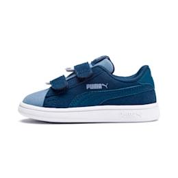 PUMA Smash v2 Monster Toddler Shoes, Gibraltar Sea-Faded Denim, small