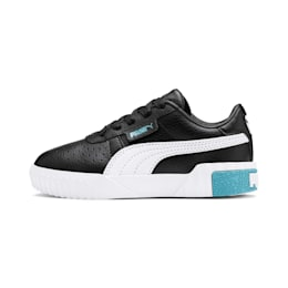 Basket Cali pour enfant fille, Puma Black-Milky Blue, small