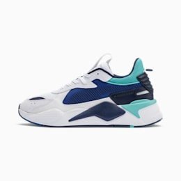 RS-X Hard Drive Trainers, Puma White-Galaxy Blue, small