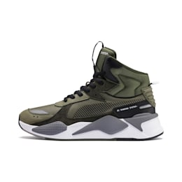 RS-X Midtop Utility Sneaker, Burnt Olive-Forest Night, small