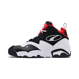 Source Mid Sneakers, Black- White-High Risk Red, small