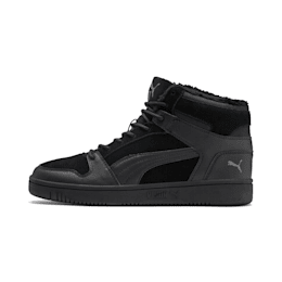 Rebound Lay Up SD Fur Trainers, Puma Black-CASTLEROCK, small