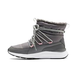 Adela vinterstøvler til kvinder, Steel Gray-Puma White, small