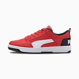 PUMA Rebound LayUp Lo Men's Sneakers, High Risk Red-White-Black, small