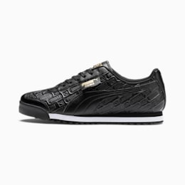 Roma Reinvent Women's Sneakers, Puma Black-Puma Team Gold, small