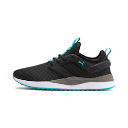 Pacer Next Excel Running Shoes, Puma Black-Blue Turquoise, small