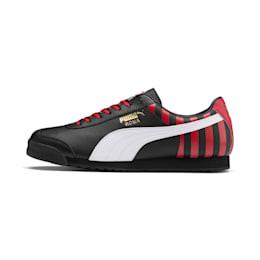 Roma Classic Football Trainers, Puma Black-Tango Red, small