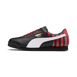 Roma Classic Football træningssko, Puma Black-Tango Red, small