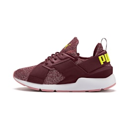 Muse Shift Sneakers JR, Vineyard Wine-Yellow Alert, small