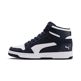 Rebound Layup Suede Shoes, Peacoat-Puma White, small-IND