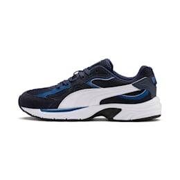 Zapatos deportivos Axis Plus Suede para hombre, Peacoat-G Blue-Blanco-Negro, pequeño