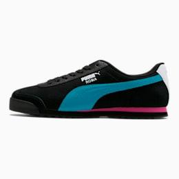 Roma XTG Perf Men's Sneakers, P Black-P White-Carib Sea, small