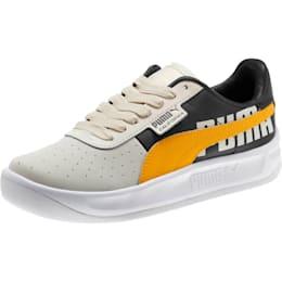 California PUMA Logo Women's Sneakers, Whisper White-Gold Fusion, small