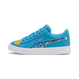 Sesame Street 50 Suede Statement Kids' Trainers, Bleu Azur-Puma White, small
