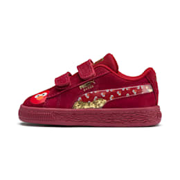 Sesame Street 50 Suede Statement Babies' Trainers, Rhubarb-Puma White, small
