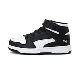 Rebound Lay-Up SL V Kids' Shoes, Puma Black-Puma White, small-IND