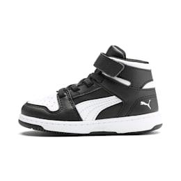 PUMA Rebound LayUp Toddler Shoes, Puma Black-Puma White, small