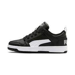 Rebound Lay-Up Lo Youth Trainers, Puma Black-White-High Rise, small