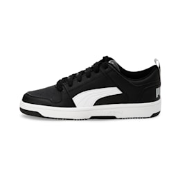 Rebound Lay-Up Lo Youth Shoes, Puma Black-White-High Rise, small-IND