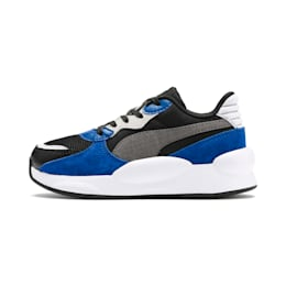 RS 9.8 Space Kids' Trainers, Puma Black-Galaxy Blue, small
