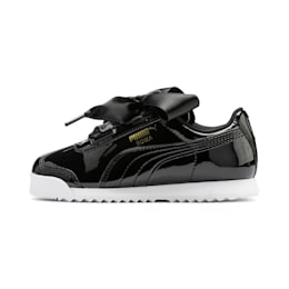 Roma Heart Patent Kids Sneaker, Puma Black, small