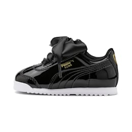Roma Heart Patent Babies' Trainers, Puma Black, small