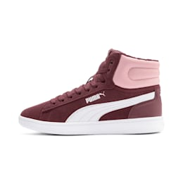PUMA Vikky v2 Mid Fur Sneakers JR, Vineyard Wine-B Rose-White, small