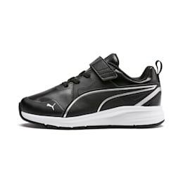 Pure Jogger SL Kids' Trainers, Puma Black-Puma Silver-White, small-IND
