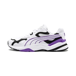 Axis SUPR Trainers, White-Black-Purple Glimmer, small-IND