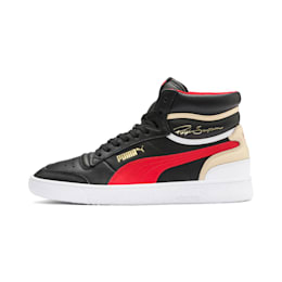 Ralph Sampson Mid Sneakers, PBlack-High Risk Red-PWhite, small