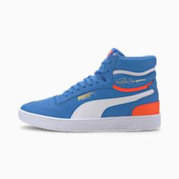 Zapatos deportivos de caña media Ralph Sampson, P Blue-Lava Blast-Blanco, pequeño