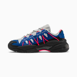 LQDCELL Omega Lab Trainers, Puma Black-Galaxy Blue, small