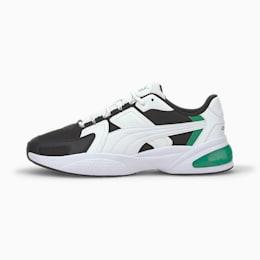 Ascend, White-Black-Amazon Green, small-IND