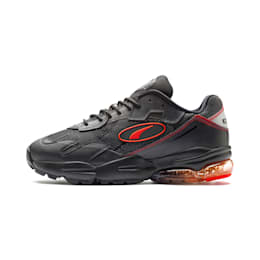 CELL Ultra Transparent Trainers, Puma Black-Lava Blast, small