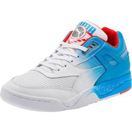 Palace Guard Retro Sneakers, White-Indigo-Red, small