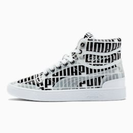 Ralph Sampson Mid Logo Women's Sneakers, Puma White-Puma Black, small