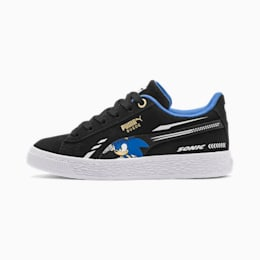 Basket PUMA x SONIC Suede Kids, Puma Black, small