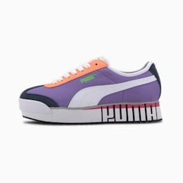 Roma Amor Logo Women's Sneakers, Lumi. Purple-PWht-Dark Denim, small