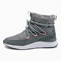 Adela PURETEX Women's Winter Boots, Steel Gray-Puma White, small