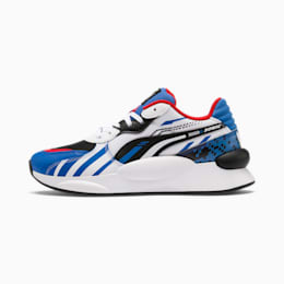 PUMA x SONIC RS 9.8 Youth Sneaker, Palace Blue-Puma White, small