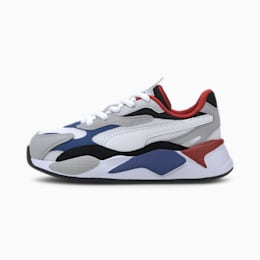 RS-X Puzzle Kids' Trainers, Puma W-DazzlingBlue-HighRise, small