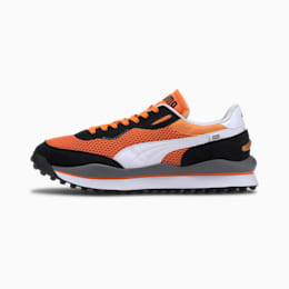 Style Rider OG Men's Sneakers, Vibrant Orange-Puma Black, small-IND