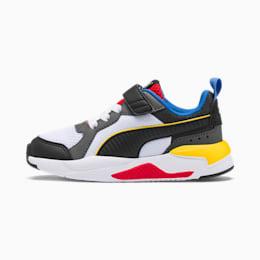 X-Ray AC Kids Sneaker, Wht-Blk-Dk Shdw-Dandelion-Rd, small