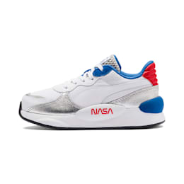 キッズ PUMA x SPACE AGENCY RS 9.8 スニーカー PS 17-21CM, Puma White-Puma Silver, small-JPN