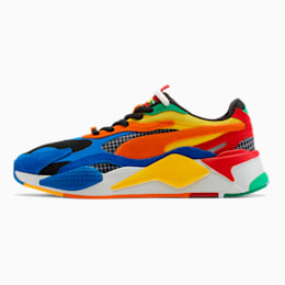 PUMA x RUBIK'S RS-X³ Trainers, Palace Blue-High Risk Red, small