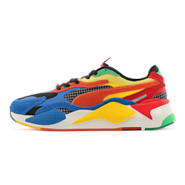 PUMA x RUBIK'S RS-X³ Trainers, Palace Blue-High Risk Red, small-SEA