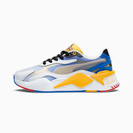 PUMA x SONIC RS-X³ Color sportschoenen voor jongeren, Puma White-Golden Rod, small